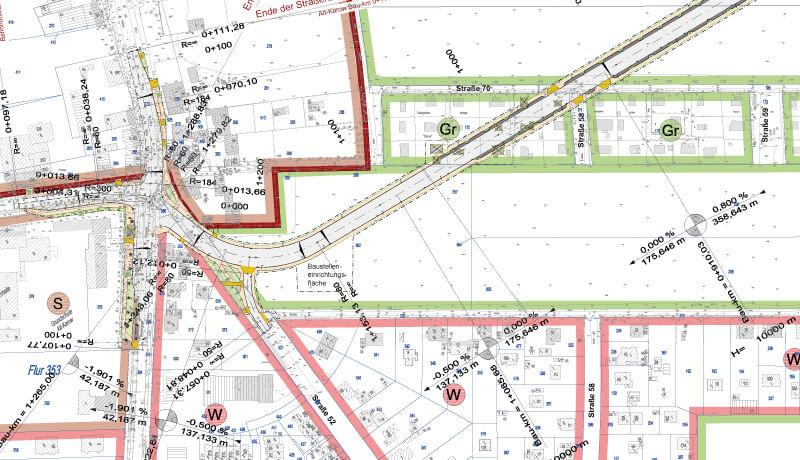 Übersichtslageplan   Objektplanung der Verbindungsstraße zur B 2 in Karow