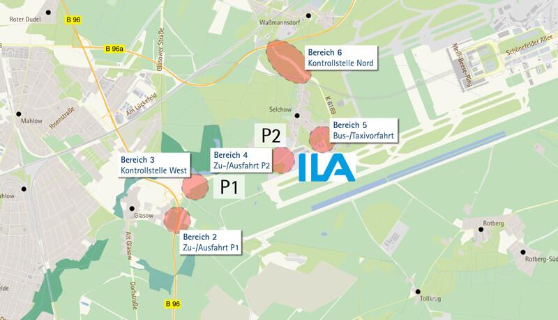 Übersichtsplan | Verkehrskonzept für die ILA 2014