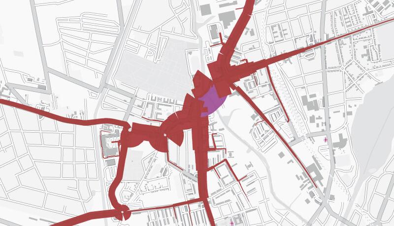 Analyse-Nullfall Schlossbrücke | Verkehrsentwicklungsplan der Stadt Oranienburg für das Jahr 2025