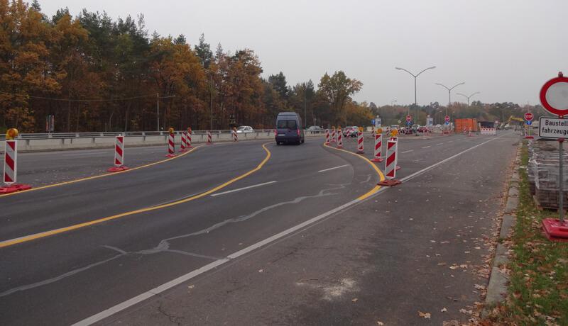 Ausführung | Bauzeitliches Verkehrskonzept am Autobahnkreuz Zehlendorf