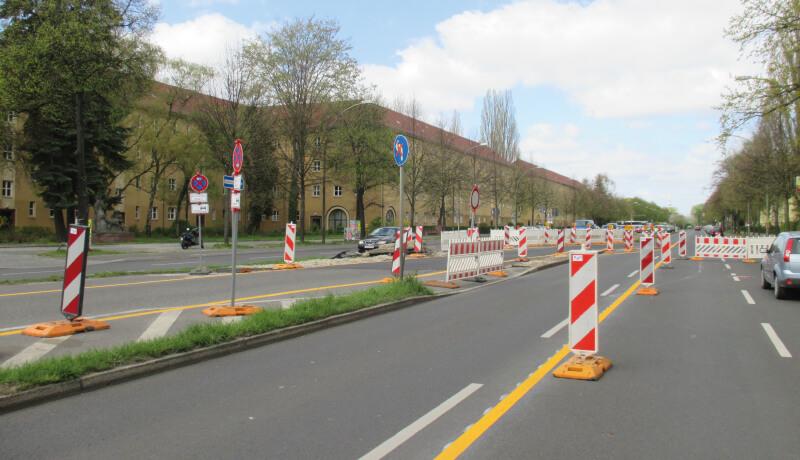 Bauphase Bauzeitliches Verkehrskonzept BWB