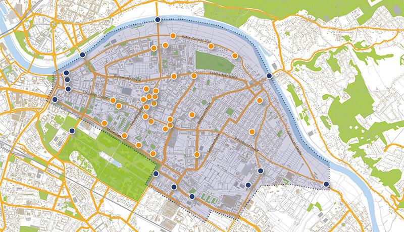 Kordonerhebung | Kordonerhebung in Dresden in den Jahren 2010 und 2014