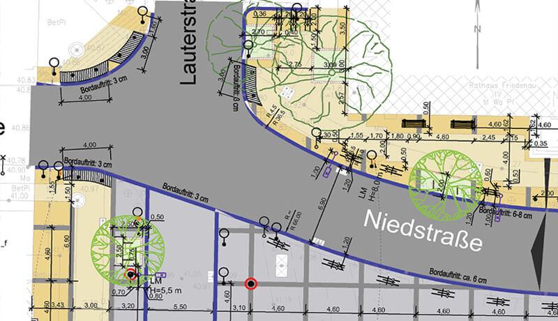 Lageplan Auszug 1| Umgestaltung des Breslauer Platzes Ingenieurleistungen und Leistungen der Technischen Ausrüstung