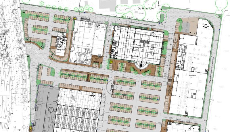 Lageplan | Planung der Außenanlagen und Bauleitung für den Bau des Siemensstadt-Parks in Berlin-Spandau