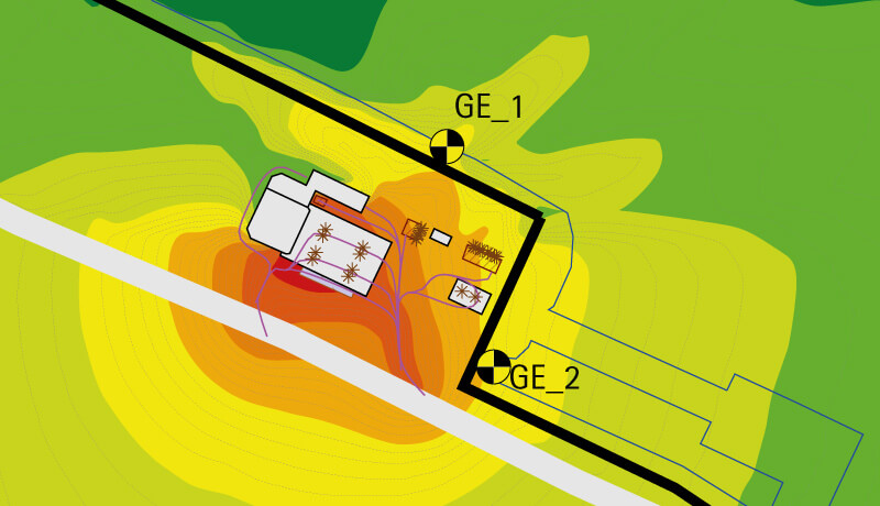 Schall Gutachten B-Plan An der Petersdorfer Straße Rostock_Karte Lärm