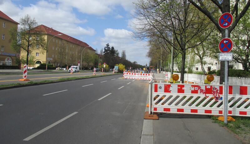 Sperrung Bauzeitliches Verkehrskonzept BWB