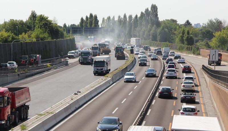 Fahrbahnerneuerung | Bauzeitliches Verkehrskonzept für die Erneuerung der Fahrbahn der A 113