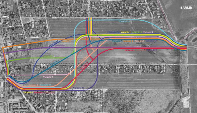 Variantenvergleich   Objektplanung der Verbindungsstraße zur B 2 in Karow