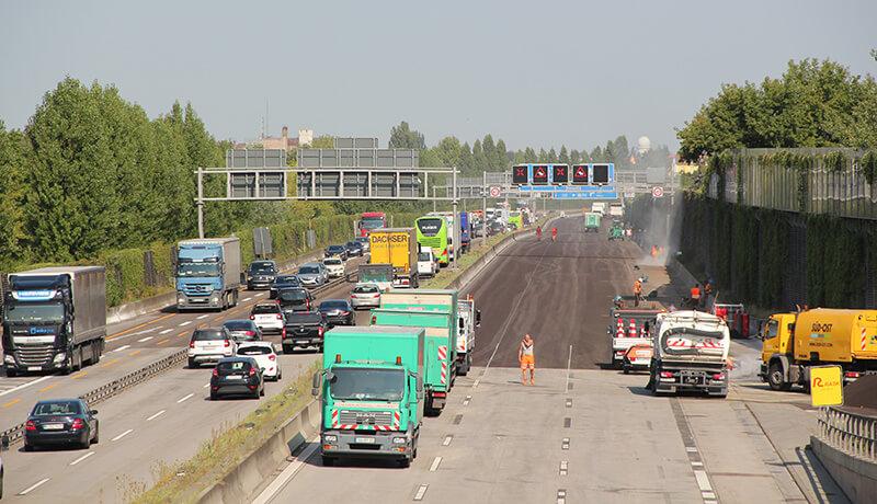 Fahrbahnsperrung | Bauzeitliches Verkehrskonzept für die Erneuerung der Fahrbahn der A 113