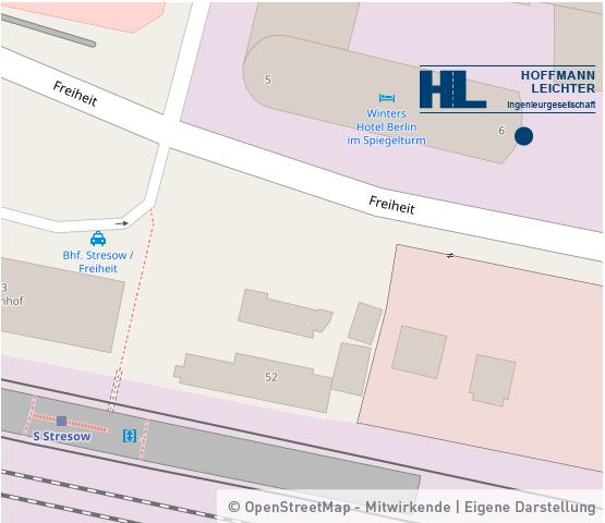 Anfahrtskizze Hoffmann-Leichter Ingenieurgesellschaft mbH Büro Berlin