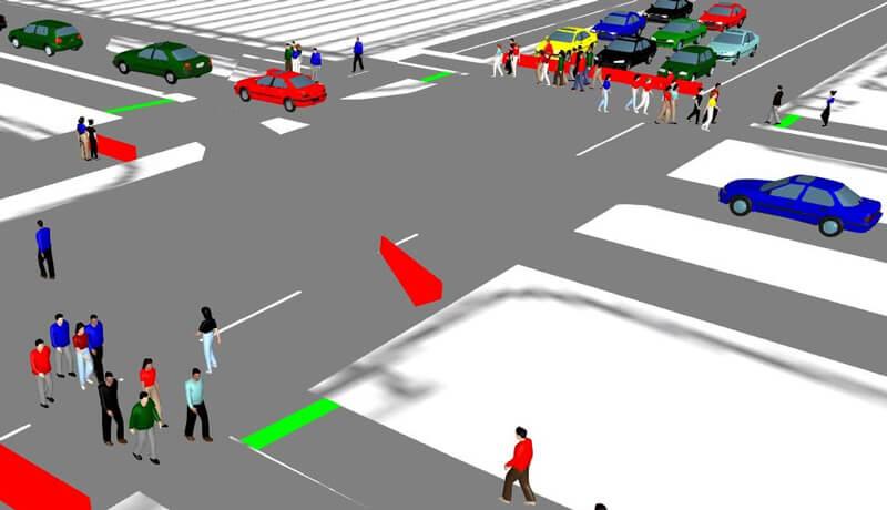 3D Simulation | Verkehrssimulation zur Öffnung der Friedrichstraße im Zuge des Neubaus der U5 in Berlin