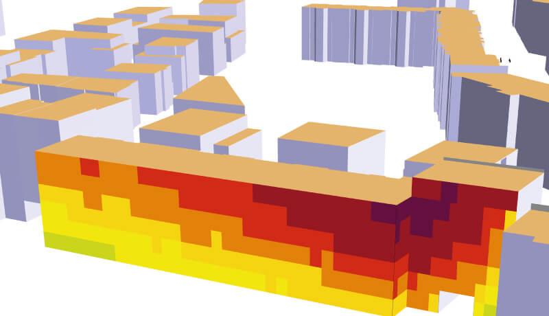 Pegelminderung 3D   Schallschutzgutachten Wohnbebauung B-Plan 1-64