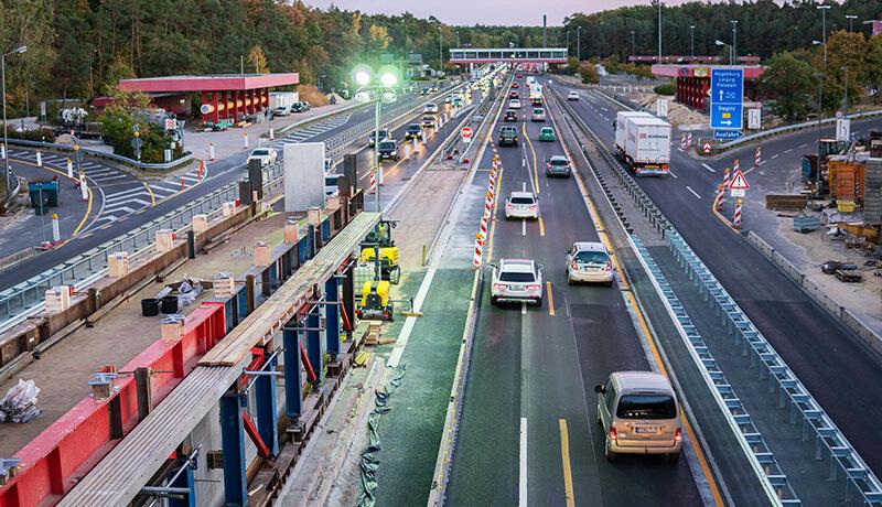 Brückenbau | Bauzeitliches Verkehrskonzept am Autobahnkreuz Zehlendorf