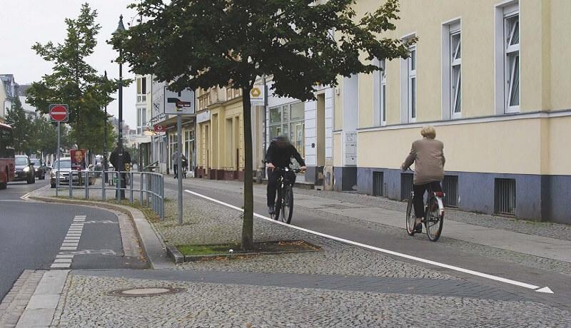 Fehlverhalten Radfahrer | Bestandsaudit von Straßen für das Bahnhofsumfeld Fürstenwalde/Spree