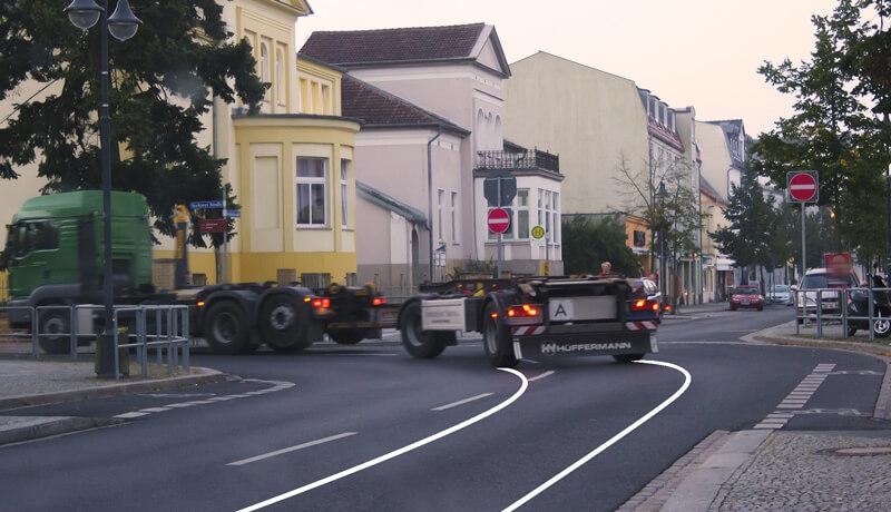 Flächenbedarf Kurve | Bestandsaudit von Straßen für das Bahnhofsumfeld Fürstenwalde/Spree