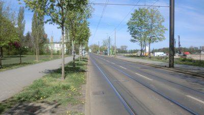 Foto | Bauzeitliches Verkehrskonzept für Arbeiten am Kanalnetz in der Regattastraße in Berlin