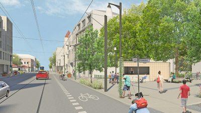 Friedenstraße | Integriertes Verkehrs- und Freiraumkonzept (IVFK) für das 'Aktive Zentren' Fördergebiet Adlershof-Dörpfeldstraße