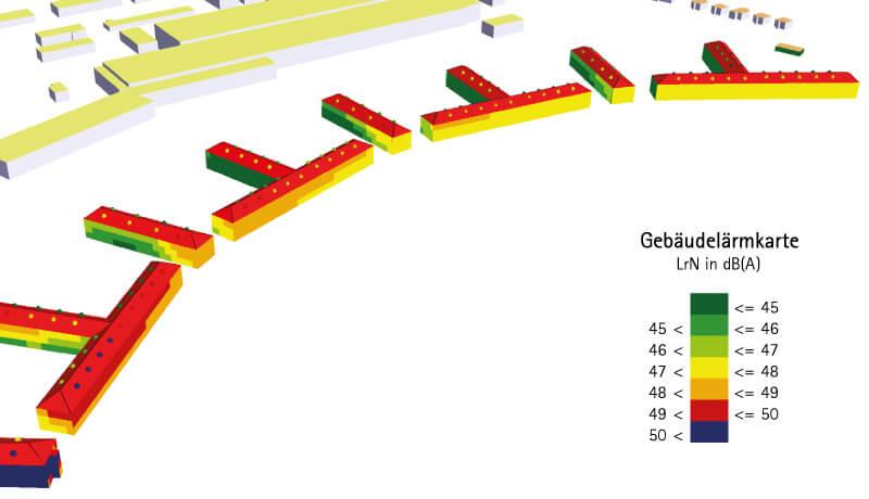 Gebäudelärmkarte | Immissionsschutzgutachten Wohnen am Panke-Park