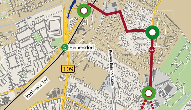 Lösung   Verkehrsuntersuchung zum Netzelement N4 Verkehrslösung Heinersdorf