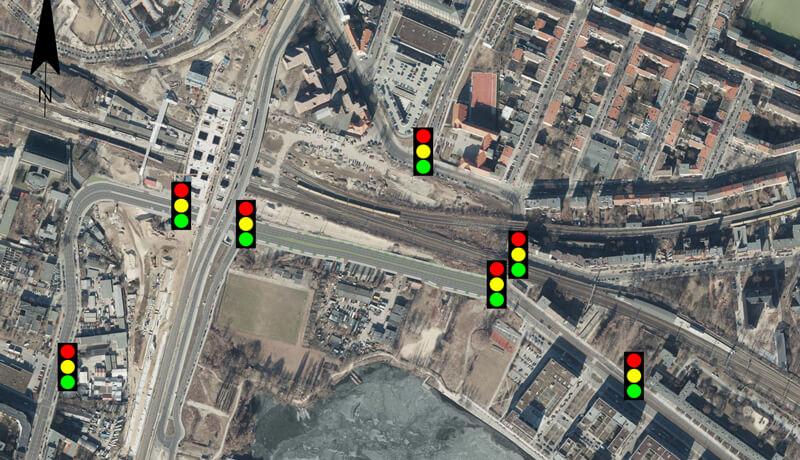 LSA Standorte | Verkehrssimulation für den Neubau der Hauptstraße am S-Bahnhof Ostkreuz in Berlin
