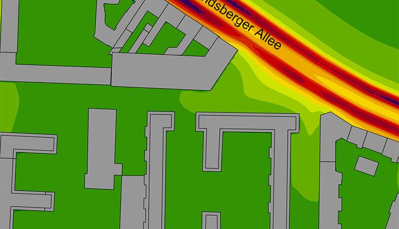 NOX Planfall | Luftschadstoffuntersuchung Bebauungspläne V-1-1 & V-1-2