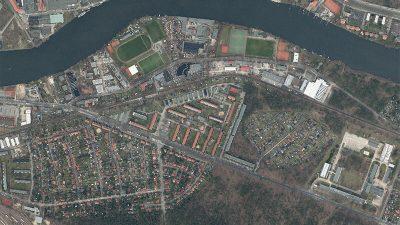Luftbild | Schallschutzgutachten Sperrung Oberspreestraße