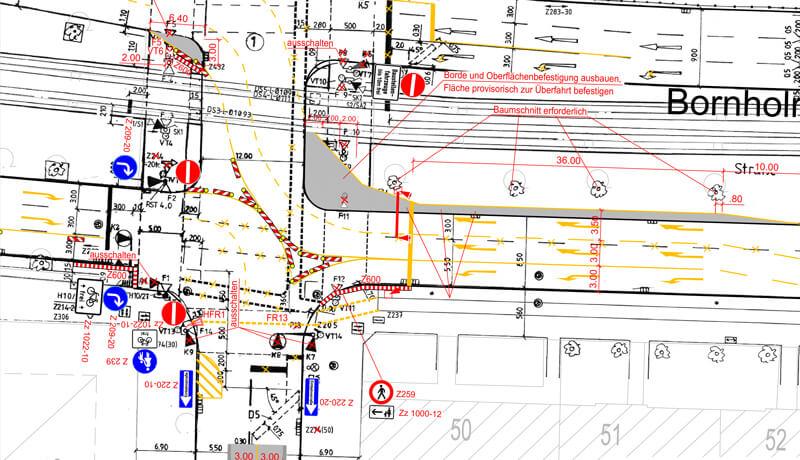 Plan Verkehrskonzept Sanierung Bösebrücke