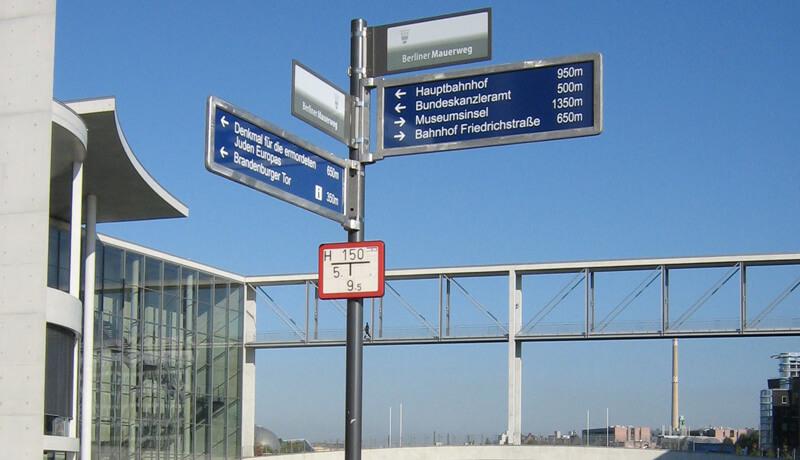 Reichstagufer | Touristisches Wegeleitsystem für Berlin