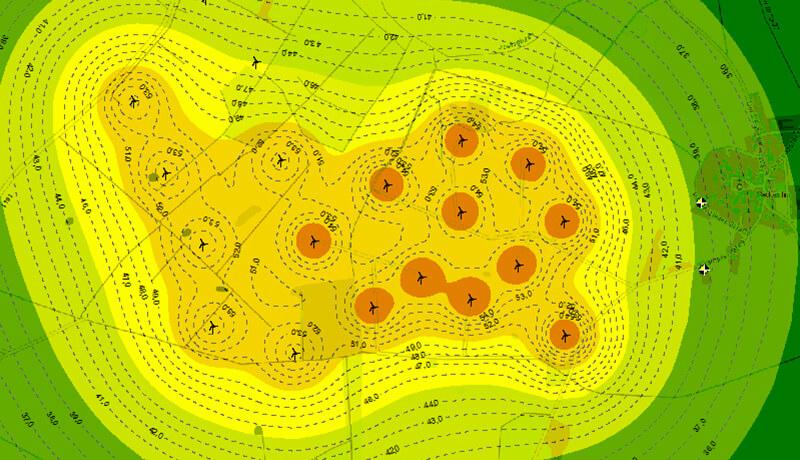 Karte Tags | Schallschutzgutachten zur Erweiterung des Windparks in Krampfer/Reckenthin