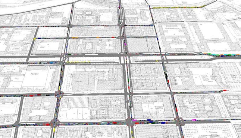 Simulation | Verkehrssimulation zur Öffnung der Friedrichstraße im Zuge des Neubaus der U5 in Berlin
