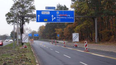 Umsetzung | Bauzeitliches Verkehrskonzept am Autobahnkreuz Zehlendorf