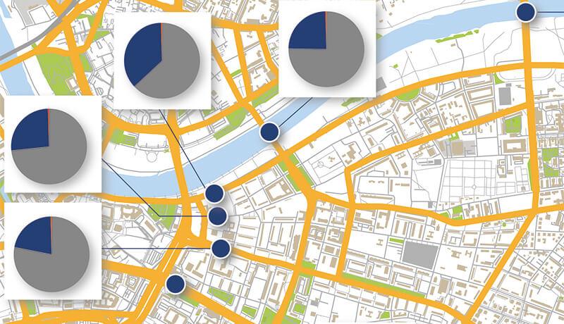 Verkehrsanteil | Kordonerhebung in Dresden in den Jahren 2010 und 2014