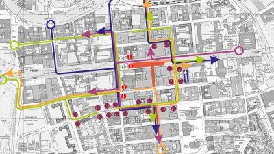 Verkehrsplanung im Rahmen des Neubaus der U-Bahnlinie U5 in Berlin-Mitte