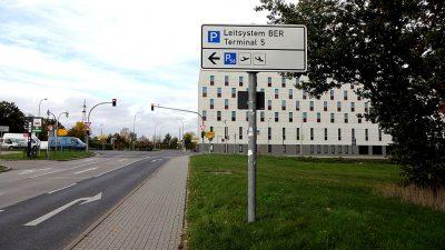 Anpassung und Aktualisierung des Parkleitsystems am BER