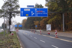 Umsetzung   Bauzeitliches Verkehrskonzept am Autobahnkreuz Zehlendorf