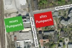 Übersicht   Bauzeitliches Verkehrskonzept für den Neubau eines Pumpwerks in Berlin Charlottenburg-Wilmersdorf