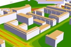 Schadstoffausbreitung 3D | Luftschadstoffuntersuchung Bebauungspläne V-1-1 & V-1-2