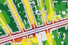 Schallausbreitung Übersichtskarte | Schallschutzgutachten für die Residenzstraße und angrenzende Gewerbegebiete