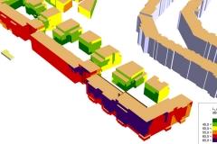 Gebäudelärmkarte 3D | Schallschutzgutachten Wohnbebauung B-Plan 1-64
