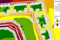 Lärmisophonenkarte | Schallschutzgutachten Wohnbebauung B-Plan 1-64