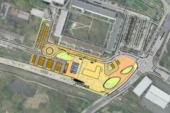 Lageplan | Verkehrssimulation für das Bahnhofsumfeld Strausberg-Stadt