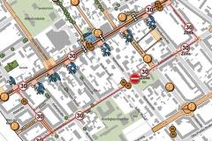 Plankarte Maßnahmen Gesamtgebiet | Integriertes Verkehrs- und Freiraumkonzept (IVFK) für das 'Aktive Zentren' Fördergebiet Adlershof-Dörpfeldstraße