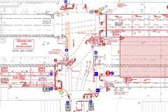 Markierungsplan   Verkehrliche Planungsleistungen im Rahmen des Neubaus der U-Bahnlinie U5 in Berlin-Mitte