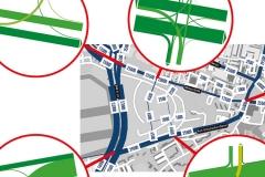 Knotenpunkte | Verkehrsplanerische Untersuchung Schumacher Quartier in Berlin